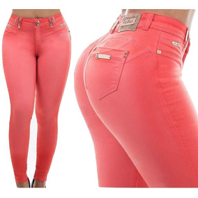 Calças Feminino Cintura média Coral no Mercado Livre Brasil 13014984196