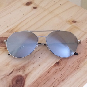 Oculos Aviador Espelhado Degrade Cinza Feminino - Óculos no Mercado ... 65b973072b