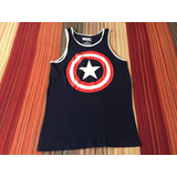 Musculosa Marvel Gym Playa Del Capitán América Talle Small.