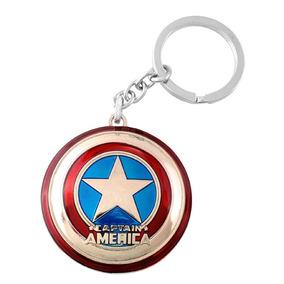 Chaveiro Escudo Capitão América Prateado
