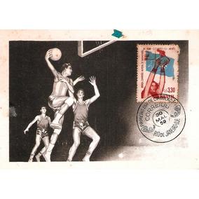 Cartão Máximo Postal Brasil Campeão Mundial De Basquete 1959