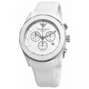 Relógio Emporio Armani Ar1425 Cerâmica Branca Unissex Lindo
