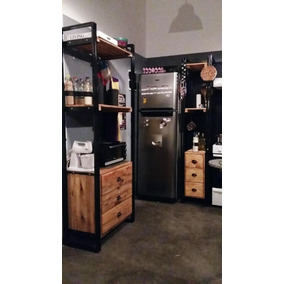 Mueble De Cocina Rustico Madera - Muebles de Cocina en Mercado Libre ...