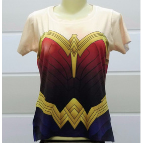 Camiseta Uniforme Baby-look Mulher Maravilha O Filme
