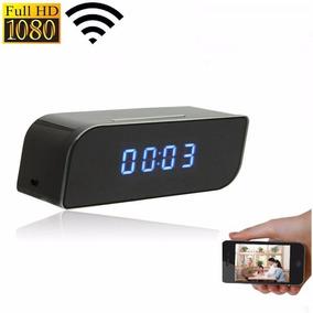 Câmera Espiã Relógio Wifi Ip 1080p Monitora Tempo Real 24h