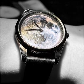 Especial Relógio De Pulso 3d Paisagem Lunar Design Criativo
