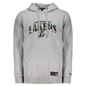 81089f9933244 Moletom New Era Nba Los Angeles Lakers Cinza