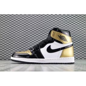 Tenis Nike Air Jordan 1 Retro Og Gold Toe Original