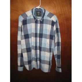 Camisa Caballero Azul Cuadros H m Talla M Original Nueva 880f68ba747e