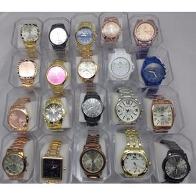 2115a2d2843 Kit 10 Relógios Femininos Mk Ck Atacado Revenda Lote - Relógios no ...
