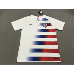 Camisa Estados Unidos 2018 Futebol Masculina Personaliza 040f73b554721