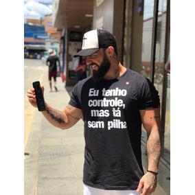Kit Com 3 T-shirts Blusa Camiseta Frases Roupas Atacado