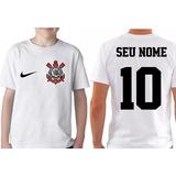 57d85e070707e Camiseta Personalizada Com Nome Time Corinthias Kit 4 Peças