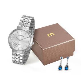 Relógio Mondaine Original Feminino 99065l0mkne1kz Com Brinco