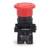 Botão Emergência Cogumelo Trava Vermelho 1 Nf 22mm