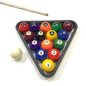 Jg Bolas De Bilhar   Sinuca   Snooker 54mm + Triângulo 9a38d5fb833f0