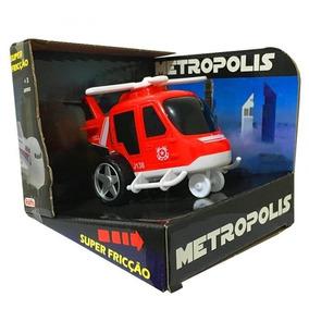 Carrinho Caminhão À Fricção Helicóptero Metropolis 14 Cm