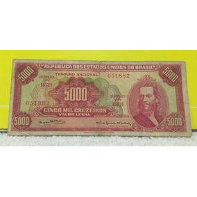 Cédula 5.000 Mil Cruzeiros C 109 Tiradentes Mbc