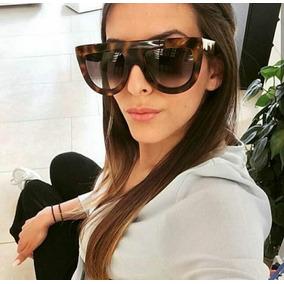 21f4b00cd Oculos Grande Feminino Oncinha Castanha Outras Marcas - Óculos no ...