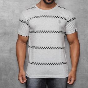 Camisa T-shirt Com Silk Masculina Manga Curta Branca Off