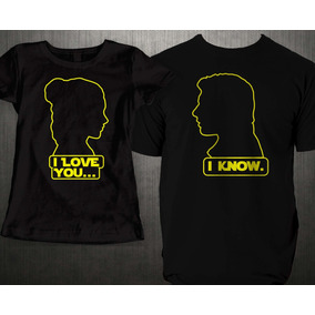 Playera Parejas Star Wars Love You I Know C u Rott Wear 395765f598bc8