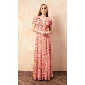 dfbe8d5dfd Vestido Chiffon Longo Vestidos Feminino - Vestidos Longos Coral ...