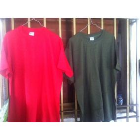 Franelas Algodón Rojas Y Verdes Talla Única Para Estampar