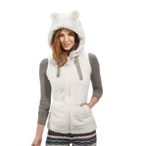 Chaleco Casual Holly Land 143408 Oso Beige Mujer Invierno