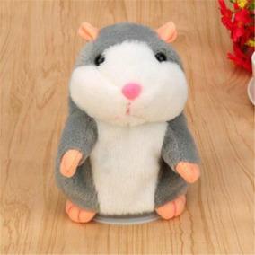 Hamster Rato Falante Brinquedo Pelúcia Presente Criança