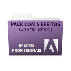 Pack Com 5 Efeitos Swish Transitions - Adobe Premiere
