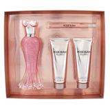 Set Paris Hilton Rose Rush 4 Pzs 100 Ml Eau De Parfum Spray