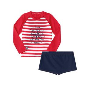 Camiseta Com Sunga Marisol Vermelho Menino