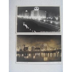Recife Foto Postal Centro Da Cidade À Noite Conjunto De Dois
