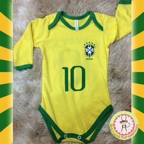 95ad4d19a1 Body Infantil Seleção Brasileira Camisa 10 Neymar Copa 2018