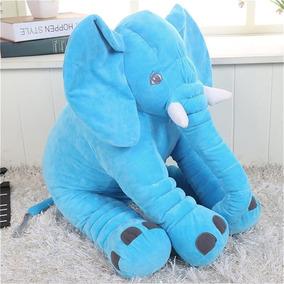 Peluche Almohada Elefante Gigante Bebes 60cm, 10 Colores!