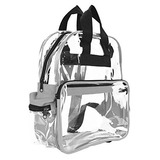 Dalix Clear Backpack Bags Plástico Liso Gris Claro Transpare