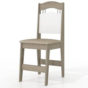 Cadeira H3 Com Estofado De Camurça Sued - Mdf 15 Mm - Branco