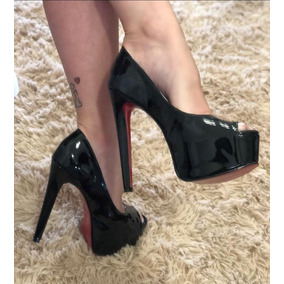 437a1af71 Sapato Peep Toe Vermelho Verniz - Sapatos no Mercado Livre Brasil