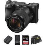 Cámara Sony Alpha A6500 Kit Premium De Lente De 18-135
