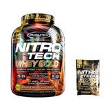 100% Whey Gold Nitro Tech 2,49kg Choco + Brindes Muscletech