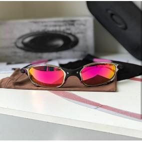 cb994f2973d54 Óculos Redondo Dourado Lentes Rosa De Sol Oakley Juliet - Óculos no ...