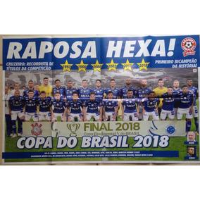 Pôster Cruzeiro Hexa Campeão Copa Do Brasil 2018