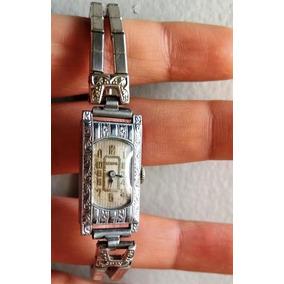 Antiguo Reloj Art Deco De Pulsera Benrus,cuerda De Mujer
