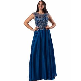 63d7de957 Vestido Fiesta Largo De Noche 1032s8 - Azul Marino
