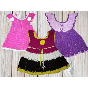 Vestidos Crochet Tejidos 100% A Mano, Variedad De Colores