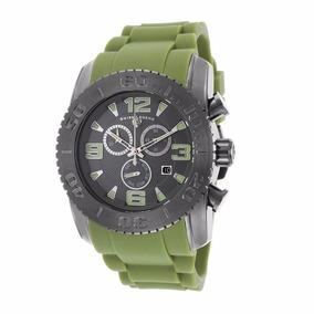 Reloj Swiss Legend 10067 Caucho Verde Cronometro 200 Mts