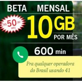 Convite Ou Migração Tim-beta 10g + 600min Custo Beneficio