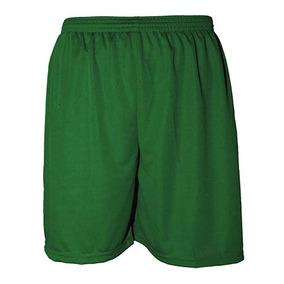 30484e1191 Calção De Futebol Liso Poliéster Nata Sports - Verde