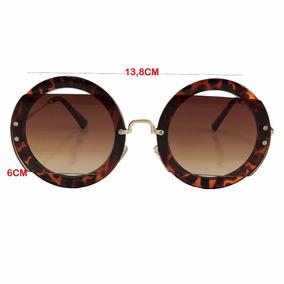 Óculos Redondo Onça - Calçados, Roupas e Bolsas no Mercado Livre Brasil 3d50cbb0d5