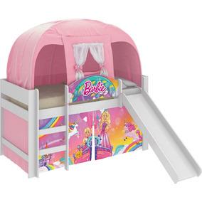 Cama Infantil Escorrega Barraca Barbie Dreamtopia Rosa Pura